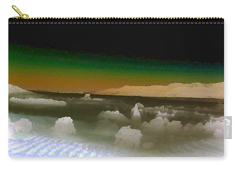 Inland Sea Carry-all Pouch featuring the painting Alien Sea by Gail Daley