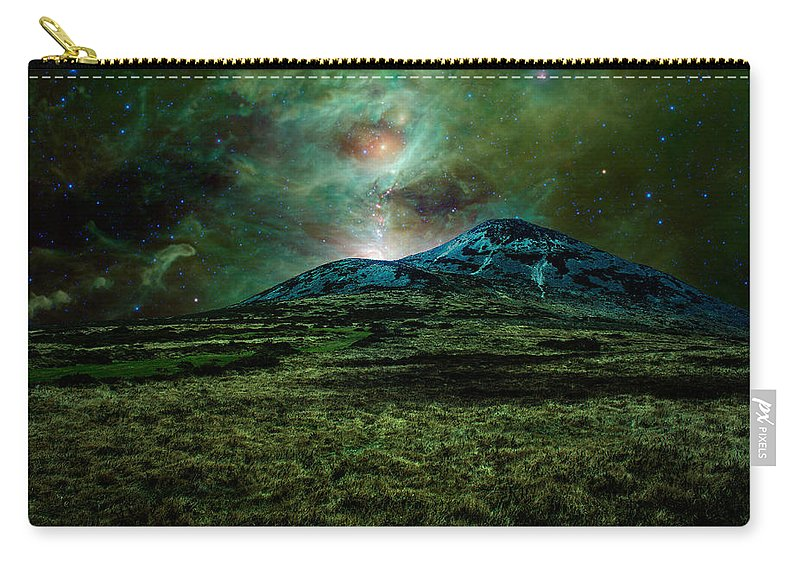 Cosmic Hearth Carry-all Pouch featuring the photograph Alien World by Semmick Photo
