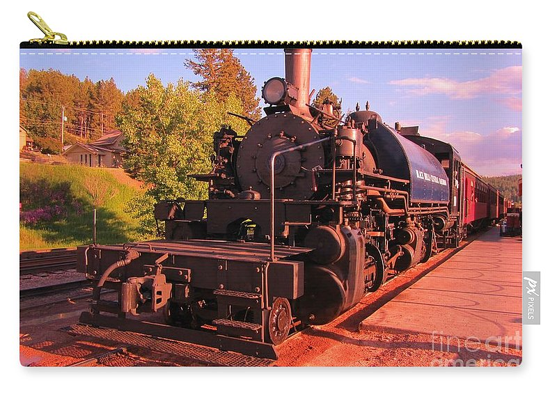 Train Art Carry-all Pouch featuring the photograph All Aboard by John Malone