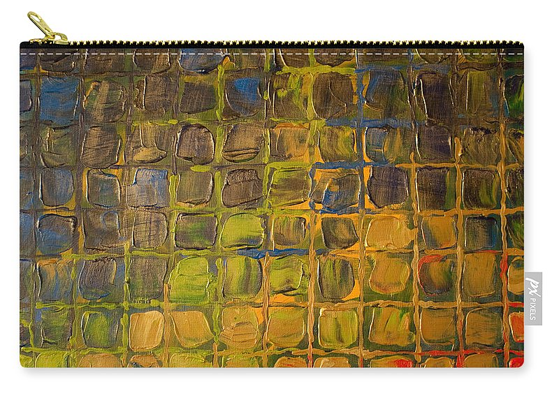 Dimensional Carry-all Pouch featuring the painting All Boxed In by Paulette B Wright
