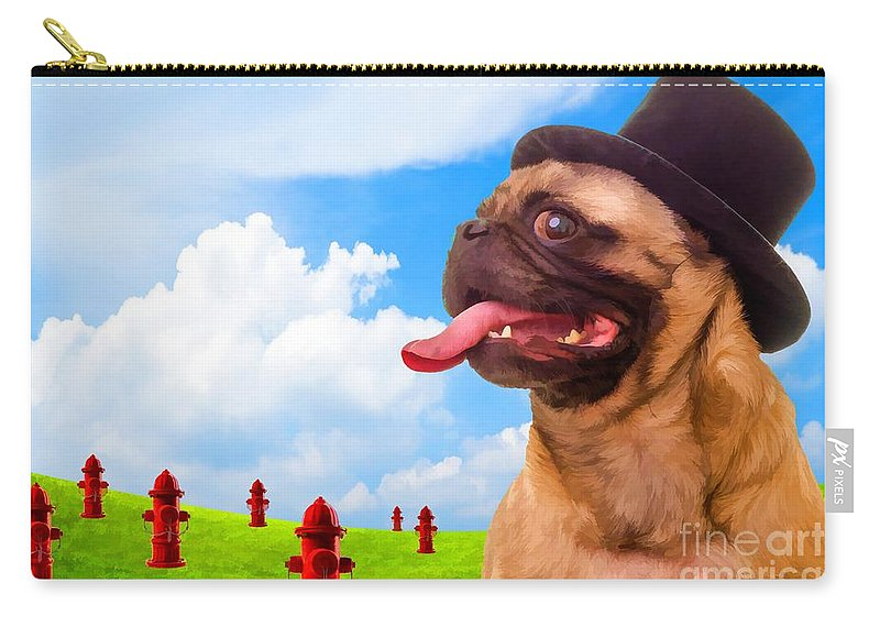 Pug Carry-all Pouch featuring the photograph All Dogs Go To Heaven by Edward Fielding