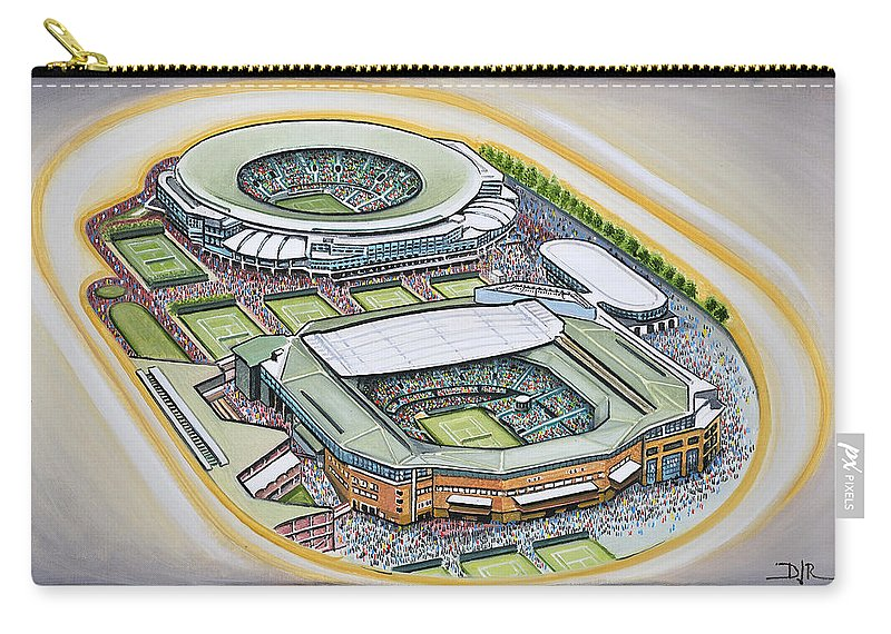 All England Carry-all Pouch featuring the painting All England Lawn Tennis Club by D J Rogers