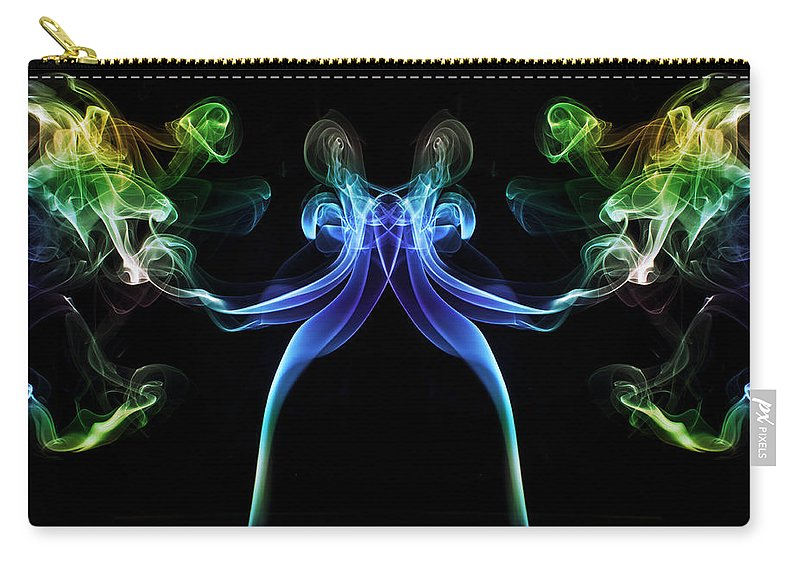 Smoking Trails Carry-all Pouch featuring the photograph All Guns Blazing 1 by Steve Purnell