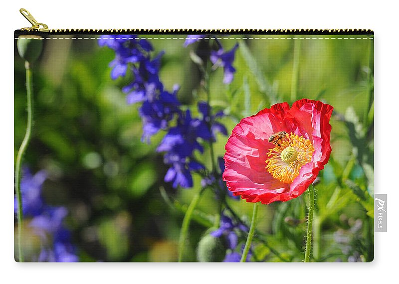 Wildflowers Carry-all Pouch featuring the photograph All In A Day's Work by Lynn Bauer