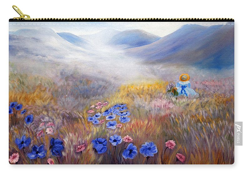 Field Carry-all Pouch featuring the painting All In A Dream - Impressionism by Georgiana Romanovna