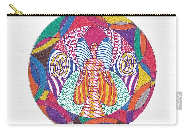 Abstract Carry-all Pouch featuring the drawing All Knowledge Is Within You by Signe Beatrice