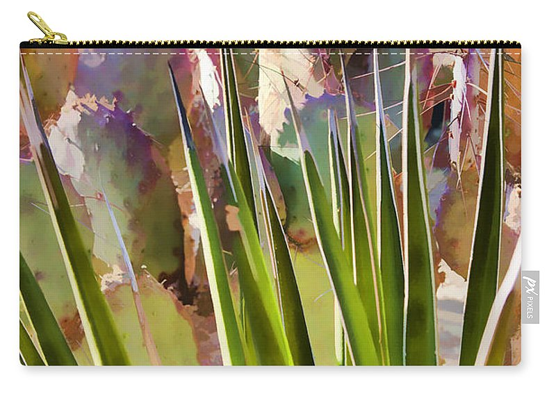 Agave Carry-all Pouch featuring the photograph All Pointy And Sharp by Scott Campbell