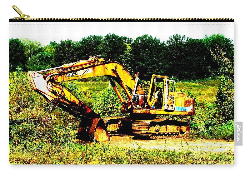 Dozer Carry-all Pouch featuring the photograph All Ready For Duty IIi by Kip DeVore