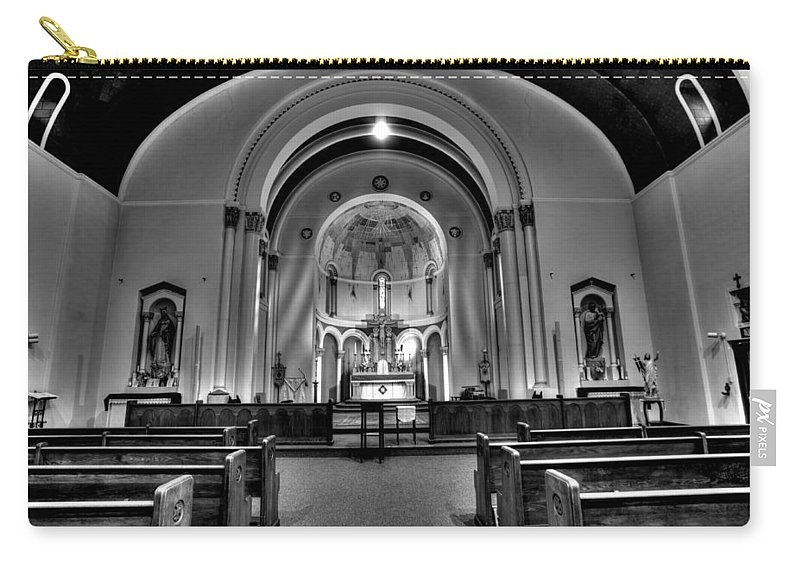 Mn Churches Carry-all Pouch featuring the photograph All Saint Catholic Church by Amanda Stadther