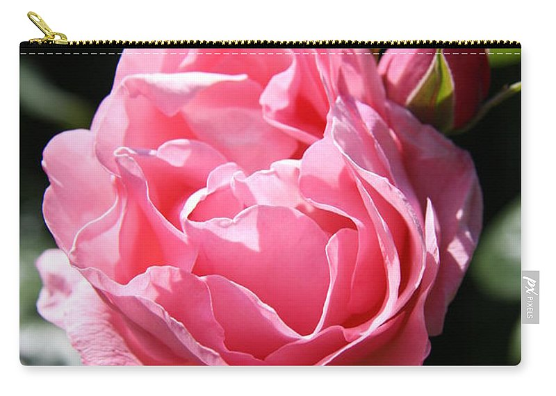 Rose Carry-all Pouch featuring the photograph All Shades Of Pink by Christiane Schulze Art And Photography