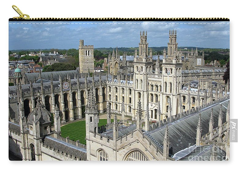Oxford Carry-all Pouch featuring the photograph All Souls College by Ann Horn