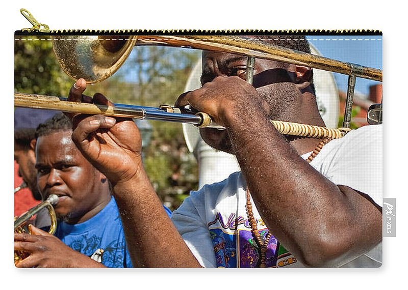 French Quarter Carry-all Pouch featuring the photograph All That Jazz by Steve Harrington