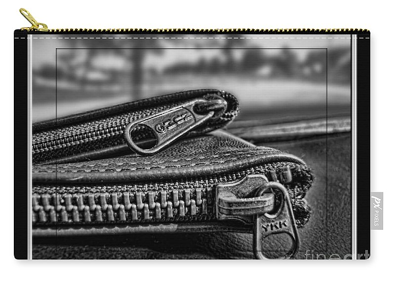 Still Life Carry-all Pouch featuring the photograph All Zipped Up II by Debbie Portwood