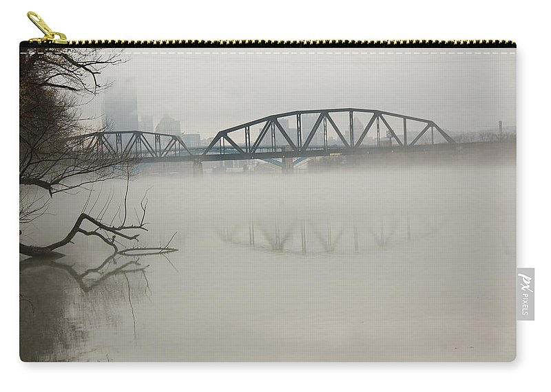 Landscape Carry-all Pouch featuring the photograph Allegheny In The Mist by Jay Ressler