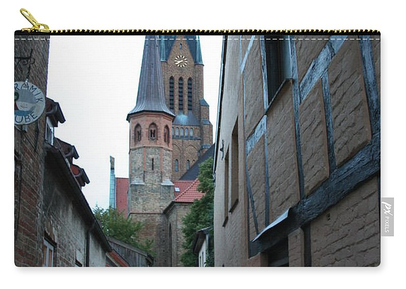 Alley Carry-all Pouch featuring the photograph Alley In Schleswig - Germany by Christiane Schulze Art And Photography