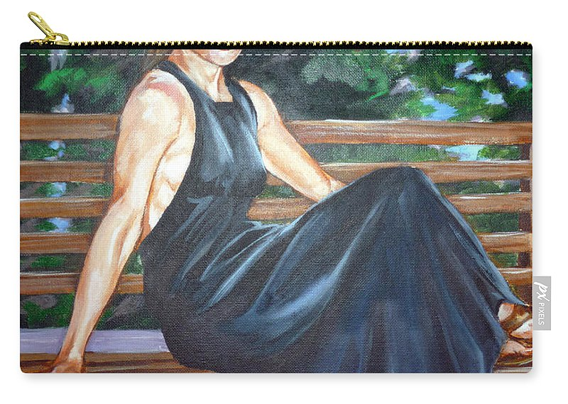 Sexy Carry-all Pouch featuring the painting Allison Two by Bryan Bustard