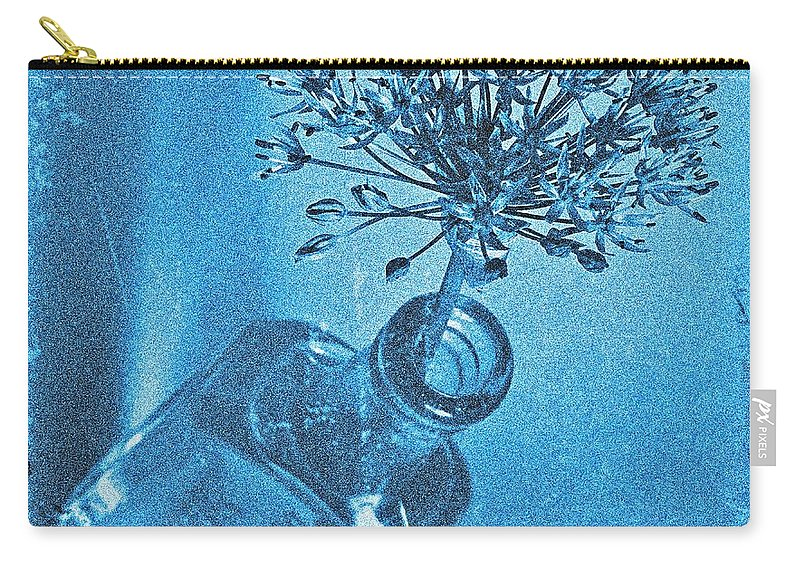 Allium Carry-all Pouch featuring the photograph Allium Cyanotype by Chris Berry