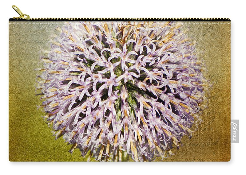 Allium Carry-all Pouch featuring the photograph Allium Flower by Angela Doelling AD DESIGN Photo and PhotoArt