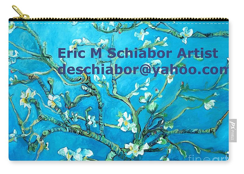 Almond Blossom Van Gogh Carry-all Pouch featuring the painting Almond Blossom Branches by Eric Schiabor