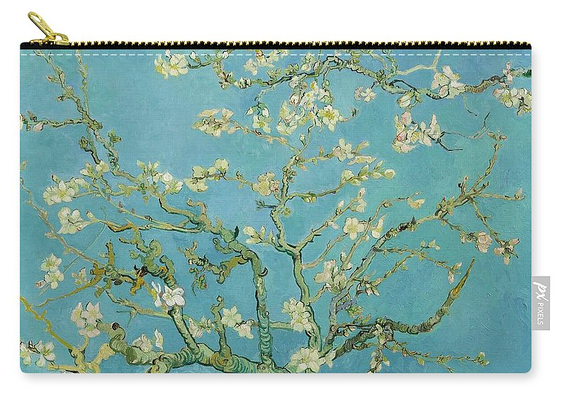 1890 Carry-all Pouch featuring the painting Almond Blossom by Vincent van Gogh
