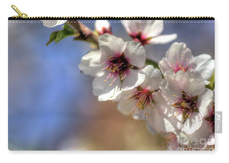 Almond Carry-all Pouch featuring the photograph Almond Blossoms by Jim And Emily Bush