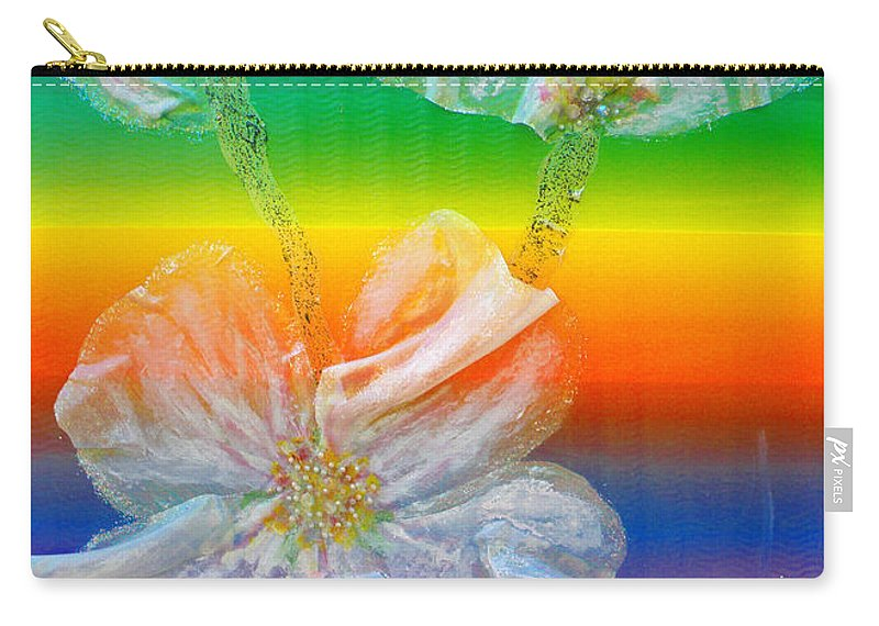 Augusta Stylianou Carry-all Pouch featuring the painting Almond Branch In The Spectrum by Augusta Stylianou