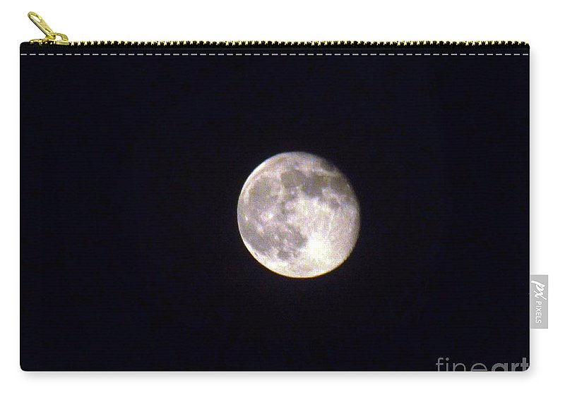 Moon Carry-all Pouch featuring the photograph Almost Full by Jennifer Lavigne