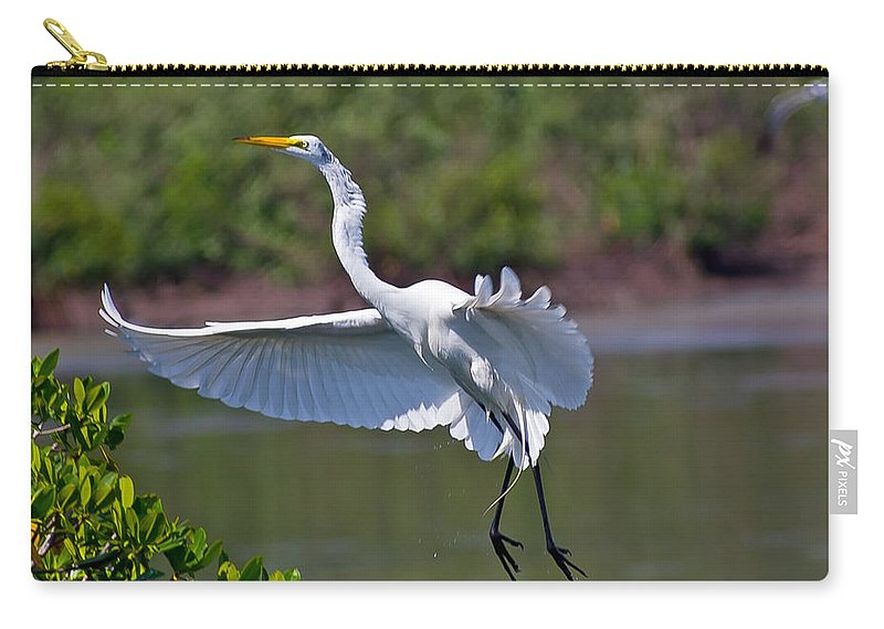 Egret Carry-all Pouch featuring the photograph Almost Home by Stephen Whalen