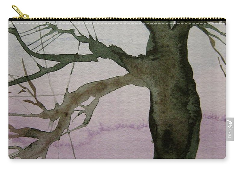 Tree Carry-all Pouch featuring the painting Almost Spring by Beverley Harper Tinsley