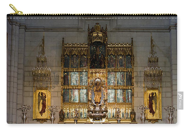 High Carry-all Pouch featuring the photograph Almudena Cathedral Altar by Artur Bogacki