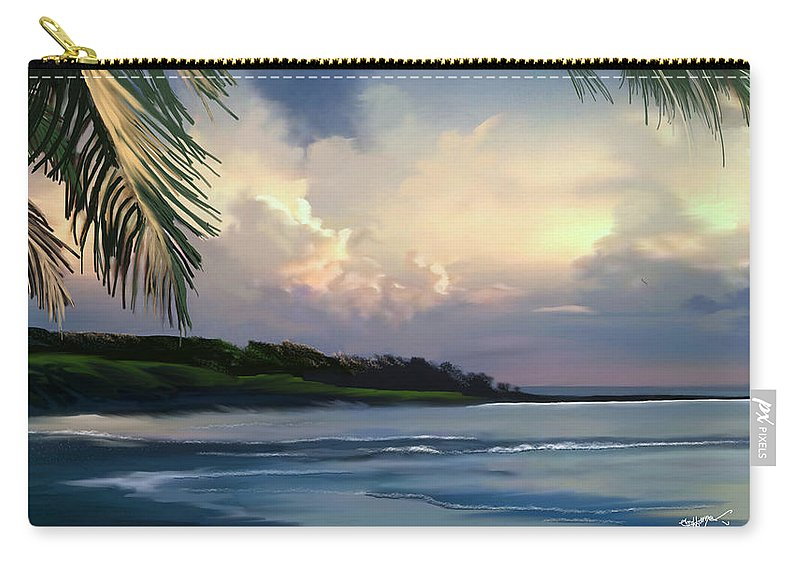 Hawaiian Art Carry-all Pouch featuring the digital art Aloha by Anthony Fishburne