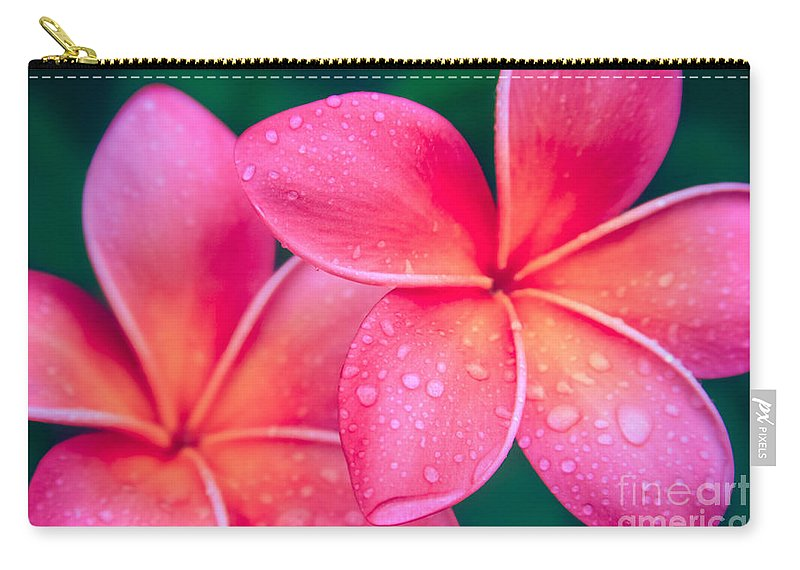 Aloha Carry-all Pouch featuring the photograph Aloha Hawaii Kalama O Nei Pink Tropical Plumeria by Sharon Mau