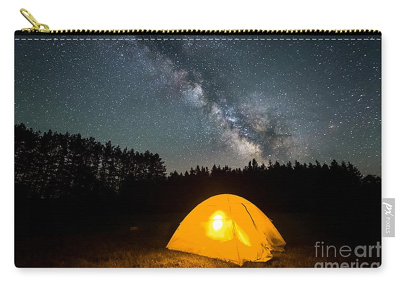Tree Carry-all Pouch featuring the photograph Alone Under The Stars by Michael Ver Sprill