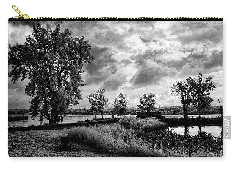 Ir Carry-all Pouch featuring the photograph Along The River by Claudia Kuhn