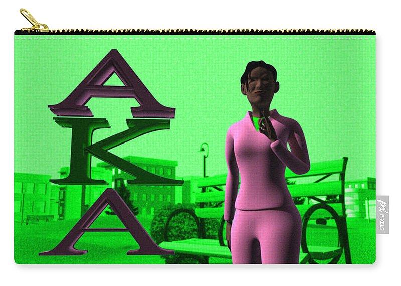 Alpha Kappa Alpha Carry-all Pouch featuring the digital art Alpha Sister by James Bowman