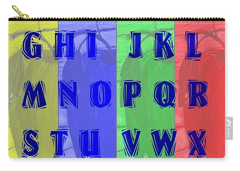 Alphabet With Apples Carry-all Pouch featuring the digital art Alphabet With Apples by Barbara Griffin