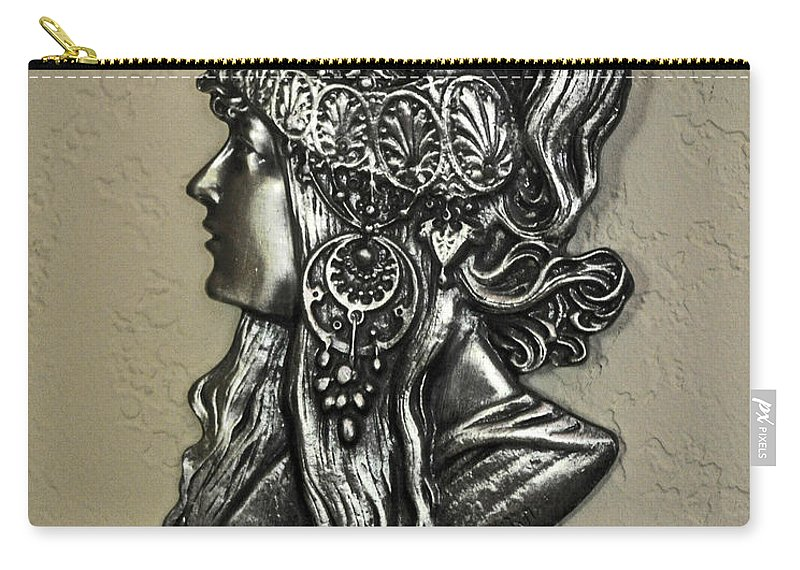 Indian Styled Woman Carry-all Pouch featuring the photograph Alphonse Mucha 1860-1939 New Profile by Jay Milo