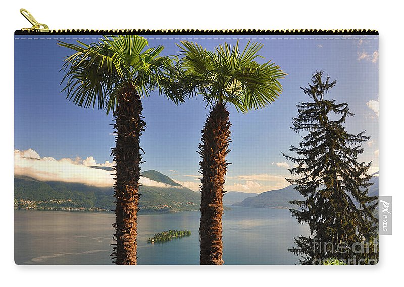Lake Carry-all Pouch featuring the photograph Alpine Lake With Island by Mats Silvan