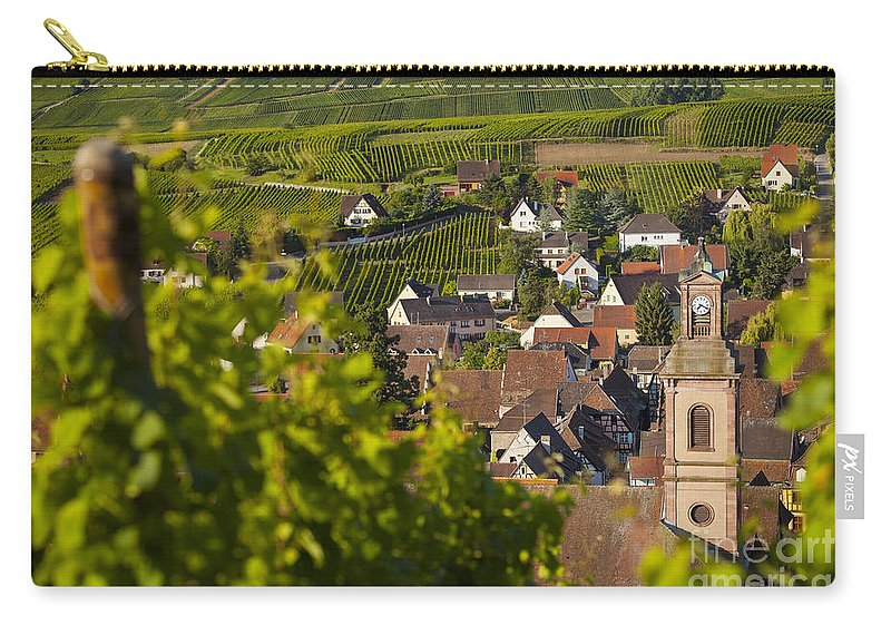Alsace Carry-all Pouch featuring the photograph Alsace Morning by Brian Jannsen