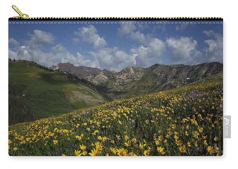 Wildflowers Carry-all Pouch featuring the photograph Alta Bloom by Susan Rovira