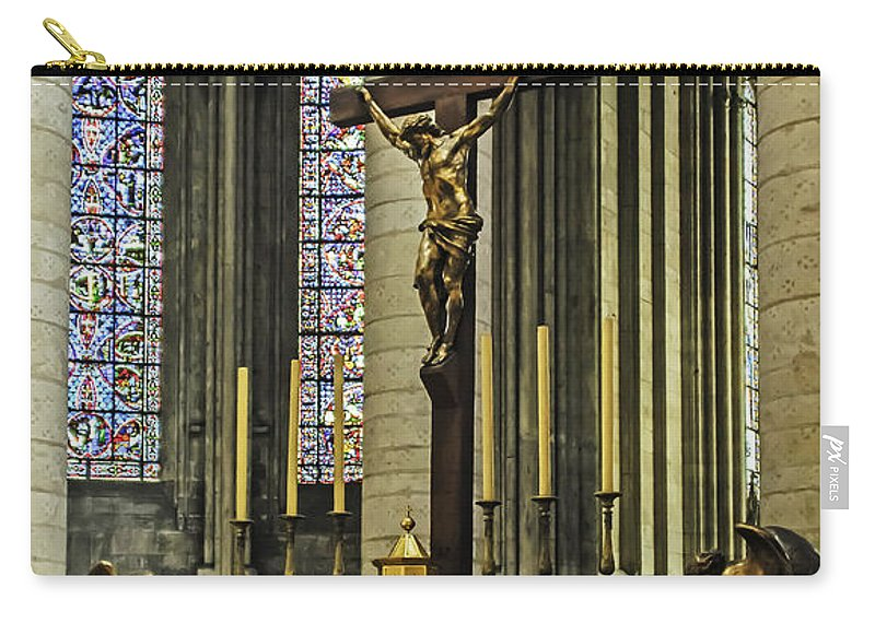 Travel Carry-all Pouch featuring the photograph Altar Of Rouen Cathedral by Elvis Vaughn