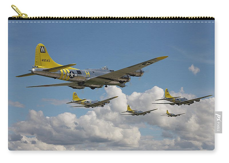 Aircraft Carry-all Pouch featuring the digital art Aluminium Overcast by Pat Speirs