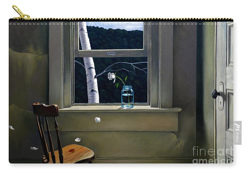 Window Carry-all Pouch featuring the painting Always Here by Christopher Shellhammer