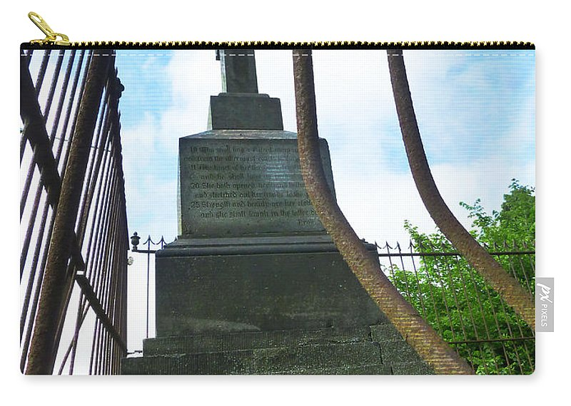 Cemetery Carry-all Pouch featuring the photograph Always Look Up And Never Look Down by Steve Taylor