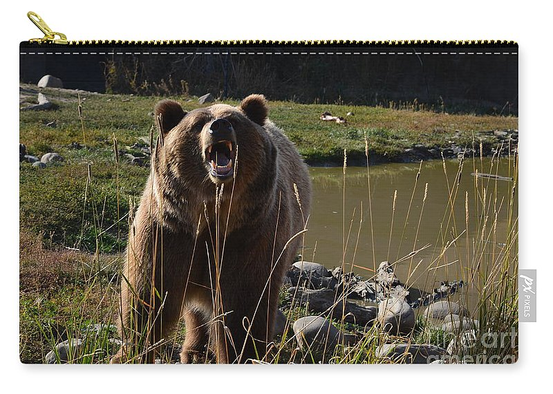 Brutus Carry-all Pouch featuring the photograph Always The Actor by Deanna Cagle