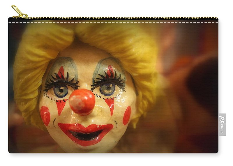 Clown Carry-all Pouch featuring the photograph Always Watching by Lynn Sprowl