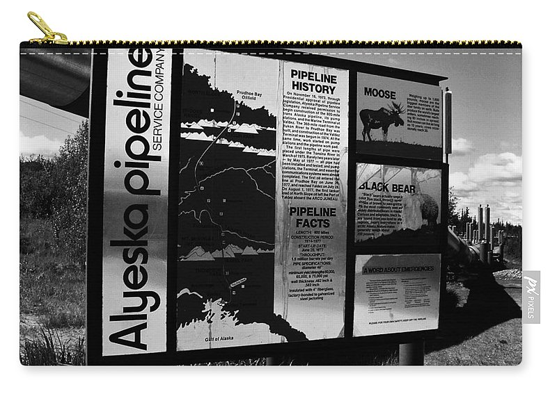 North America Carry-all Pouch featuring the photograph Alyeska Pipeline by Juergen Weiss
