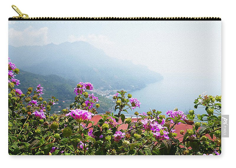 Italy Carry-all Pouch featuring the photograph Amalfi Coast View From Ravello Italy by Irina Sztukowski