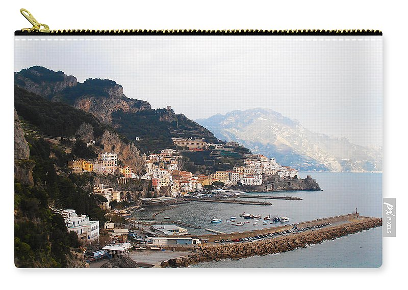 Amalfi Italy Carry-all Pouch featuring the photograph Amalfi Italy by Bill Cannon