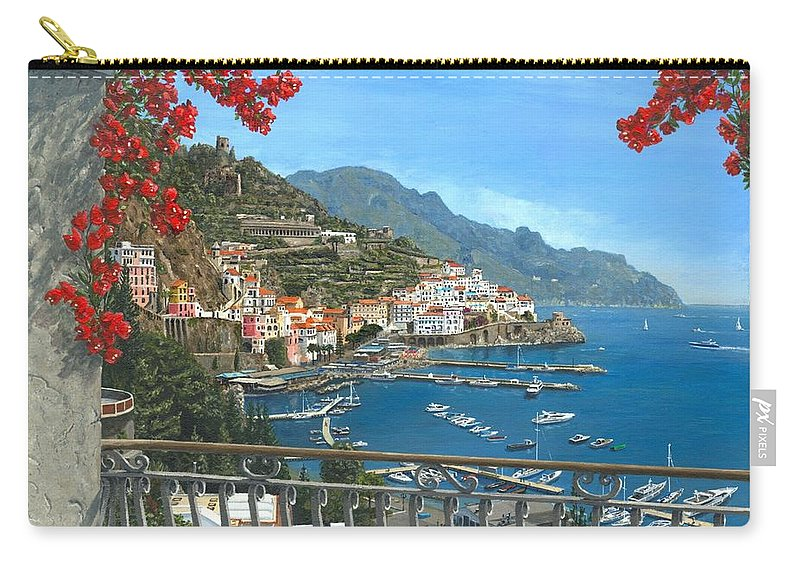 Landscape Carry-all Pouch featuring the painting Amalfi Vista by Richard Harpum